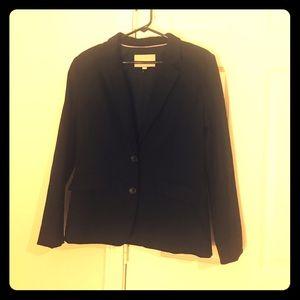 Black pin stripe suit jacket